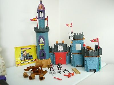 FISHER PRICE IMAGINEXT CASTLE BATTLE CASTLE + KNIGHTS CATAPULT WEAPONS + booklet