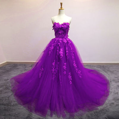 Lace Wedding Dress Bridal Gowns Quinceanera Pageant Formal Party Prom Gown
