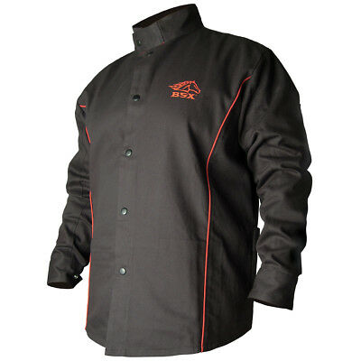 BSX® Contoured FR Cotton Welding Jacket, Black Size SML Free Shipping Aust Wide