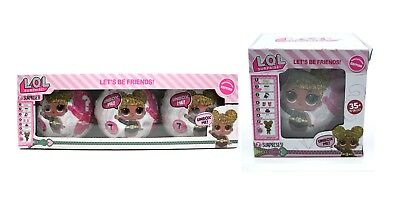 L.O.L Surprise Dolls Glitter Series Edition Queen Bee Pack Box 1&3 pack