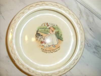 Antique Bowl D.E McNicol East Liverpool, O. wide cereal bowl with poem baby bunt