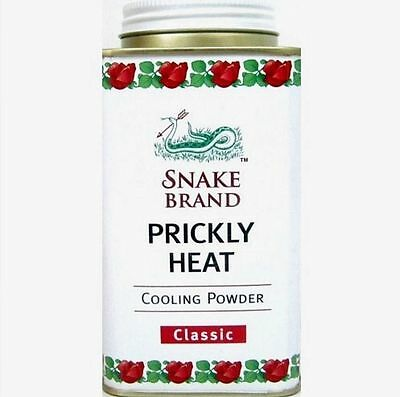 Snake Brand Prickly Heat Powder Soothing Classic Cool Refreshing Body 150g.