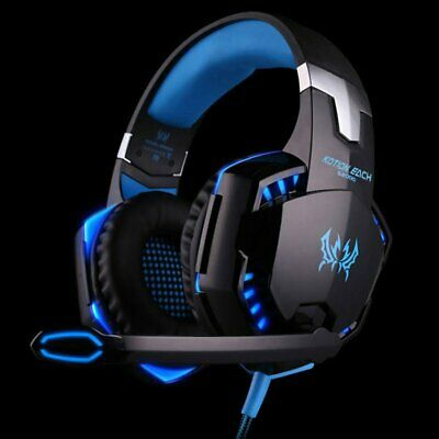 Gaming Headset MIC LED Headphones Surround for PC Mac Laptop PS4 Xbox One 3.5mm