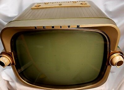 1956 Zenith X1816G TV Television mcm - Mid Century Modern Vintage - With Manual