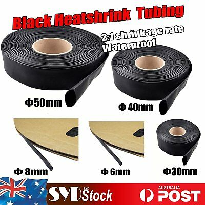 Dia= 6mm 8mm 30mm 40mm Heatshrink 2:1 Tube Tubing Sleeve Heat Shrink Cable Wrap