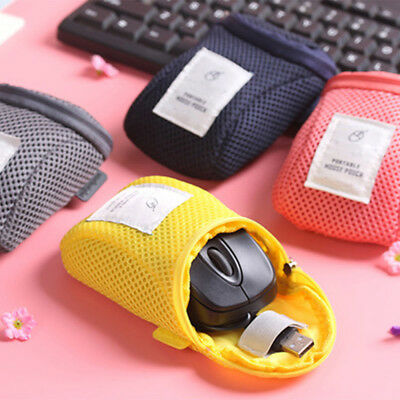 Travel Portable Mouse USB Computer Accessory Pouch Bag Carry Case Cover Bags