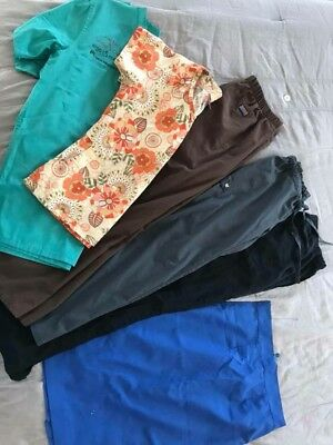 Womans Scrubs Tops Pants Skirt Size Small Extra Small XS S Lot