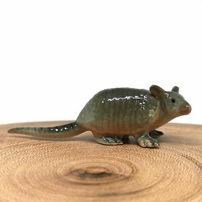 TINY Craft Miniature Collectible Porcelain Ceramic Armadillo Figurine Animal Zoo