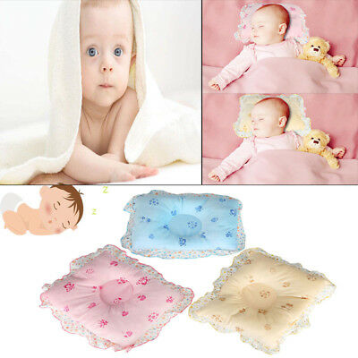 New Baby Infant Pillow Newborn Anti Flat Head Syndrome Bed Neck Sleep Support UK