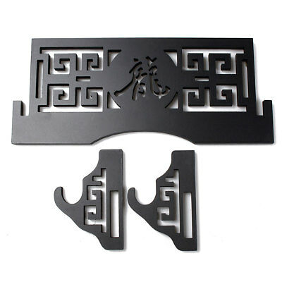 AU Wall Mount Hollow Out Chinese Characters Samurai Sword Holder Stand Hanger