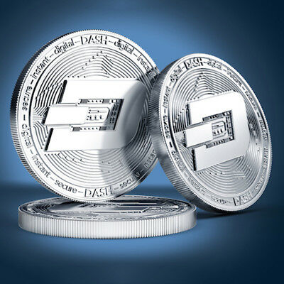 38mm Silver Plated Dash Coin Commemorative Physical Collectible Miner Coin gift