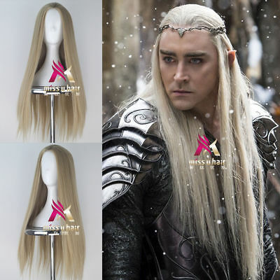 The Hobbit Thranduil Men Long Straight Cosplay Wig /Wigs