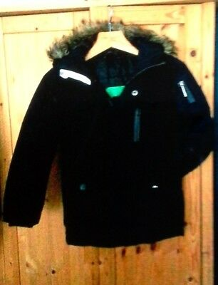 Boys Next padded winter parka coat Navy blue (Age 5-6) - Great condition!!