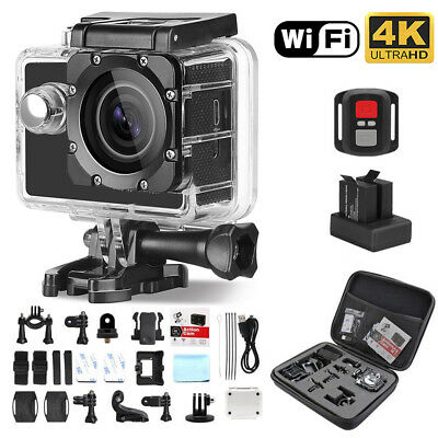 4K Action Camera HD Sports Camera Wifi Waterproof Helmet+Remote Gopro DV bag Q1