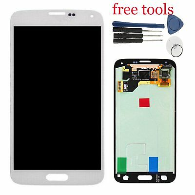 For Samsung Galaxy S5 SM-G900F i9600 LCD Display Screen Digitizer Assembly White