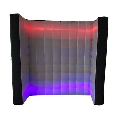 7.8ft Inflatable Lighting Wall For Photo Booth with LED Lights & Internal Blower