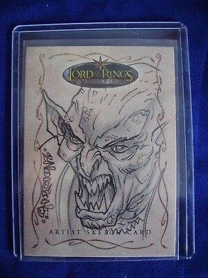 Lord of the Rings Topps Sketch Trading Card Dan Norton Evolution 307 Rare
