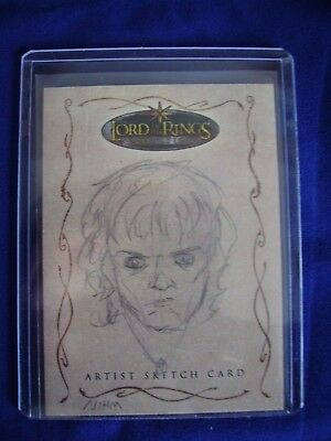 Lord of the Rings Topps Sketch Trading Card Brent Woodside NIMH Evolution