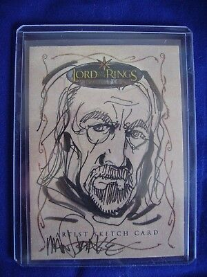 Lord of the Rings Topps Sketch Trading Card Tom Mandrake Evolution 500