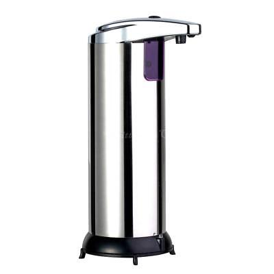 Stainless Steel Handsfree Automatic IR Sensor Touchless Soap Liquid Dispenser C@