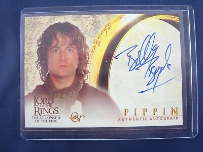 Lord of the Rings Fellowship of the Ring Billy Boyd as Pippin Autograph Card