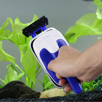 Universal Cleaning Brush Practical Floating Magnetic Aquarium Fish Tank Brush A@