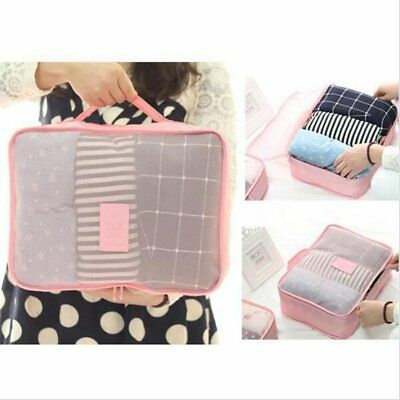 6PCS Waterproof Travel Storage Bag Clothes Packing Cube Luggage Organizer Pouch@