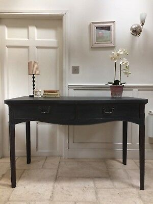 Antique Georgian Black Painted Writing Table Desk Console Hall Table
