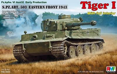 Rye Field Model 5003 Tiger I early Production Kursk w/ full interior  1/35