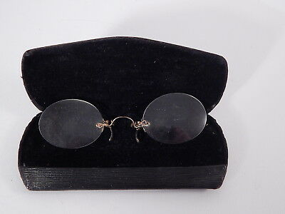 Antichi Occhiali Pince-Nez Trade Mark D.r.g.m. Glasses Germania Fine 1800
