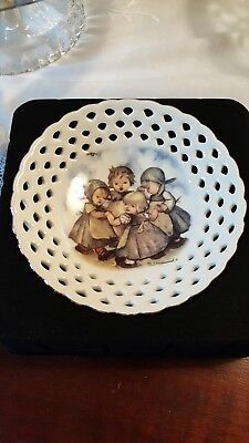 M.I. Hummel Trinket Bowl - Reticulated - Germany -  Ring around the Rosie - NEW