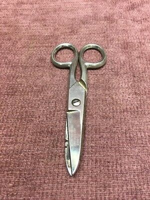 Klein Tools Inc  Electricians Scissors 2100-7 Vintage Used Tools -FREE SHIPPING-