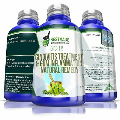 Gingivitis Treatment and Gum Inflammation Natural Remedy (Bio18)