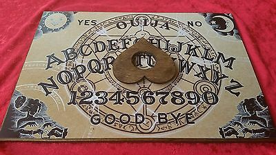 Wooden Ouija Board game & Planchette Instructions Spirit hunt witch Ghost arcane
