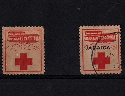 Jamaica Red Cross #1 (1915) and #3 (1916) Antique Biplane