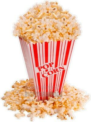 Box Of Popcorn Fun Window Or Wall Decal (Choose A Size) Stands Boardwalk Shops