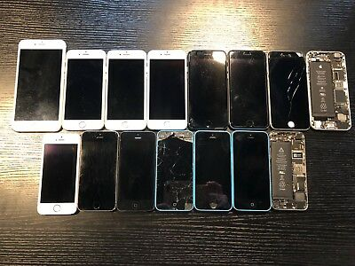 Wholesale LOT of (15) iPhones 5/6/6plus/7 AS IS with FREE Shipping