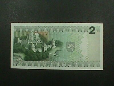 LITHUANIA  2 Litai 1993 # 54 UNCIRCULATED = extra notes ship FREE !