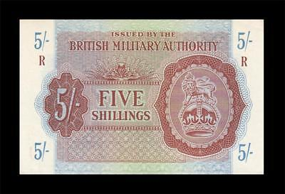 1943 British Military Note 5 Shillings England **rare** (( Gem Unc ))