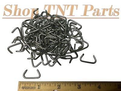 Hog Rings Large Auto Upholstery Vintage Seat Fasteners 100pc Large Galvanized