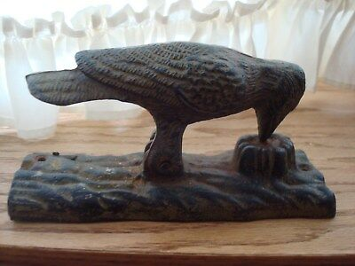 Vintage Cast Iron Woodpecker Bird Door Knocker