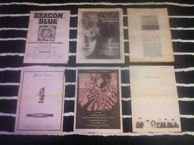 DEACON BLUE - ORIGINAL MAGAZINE ADVERT cover from the sky WAGES DAY raintown