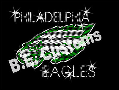 "Iron On Rhinestone Transfer /""Pittsburgh Steelers Long/"" Hotfix Bling"