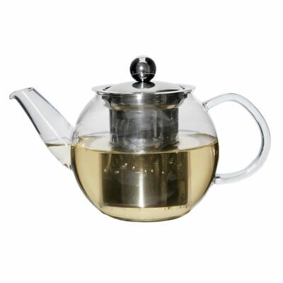Zuhause - Oskar Glass Tea Pot with Stainless Steel Infuser 600ml