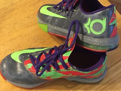 on sale cf200 8280a Nike KD 6 VI Energy GS Cool Grey Electric Nerf Splatter 599477-004 size 3.5