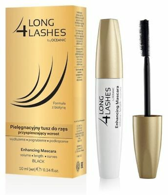 LONG 4 LASHES -- Eyelash Growth Enhancing Black Mascara with Biotin 10ml