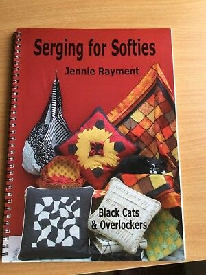 Serging For Softies, Black Cats and Overlocker.  by Jennie Rayment