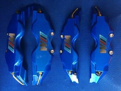 Blue BMW M POWER Chrome Brake Caliper Cover Disc Caliper Cover L+M 18 Inches