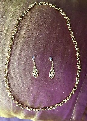 Vintage Costume Necklace and Earings