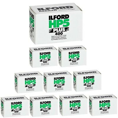 Ilford HP5 Plus 35mm Black and White B&W Negative Film, 36 Exposures - 10 Pack
